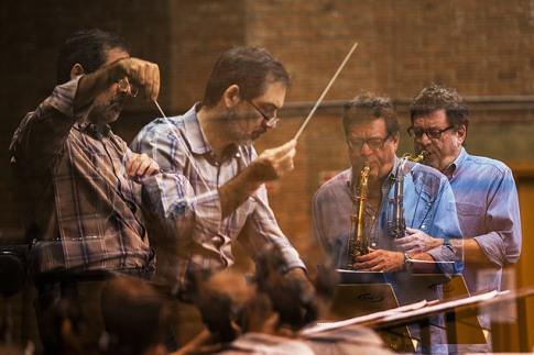 Maestro Galindo com Leo Gandelman, by Davi Ribeiro, FolhaPress