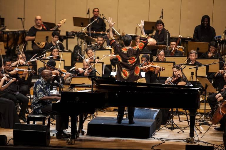 Maestro Galindo with Ray Lema Salvador, Bahia, 2014