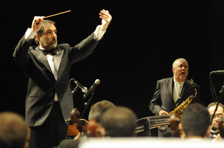 Jazz Sinf™nica + Paquito D`Rivera. Audit—rio Ibirapuera. S‹o Paulo. Brasil. 29/05/2010. Fotos: Gerardo Lazzari